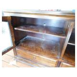 Wood Stand with Glass Doors/Shelving