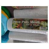 Deco Poly Mesh/Cray Paper/Yarn