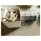 Wooden Chest and Tow Rope