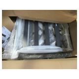Garden Treasures Elliot Creek 2-Piece Patio Conversation Set with Gray Cushions 790.130.008 - BROKEN TABLE TOP