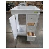 Foremost Naples 24 in. W x 21-7/8 in. D x 34 in. H Vanity Cabinet Only in White NAWA2421D