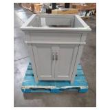Home Decorators Collection Ashburn 24 in. W x 21.63 in. D Vanity Cabinet in Grey ASGRA2421