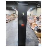73 in. Black Wood 5-shelf Standard Bookcase with Adjustable Shelves 8138400910