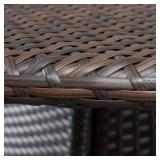 Noble House Corsica Brown Round Wicker Outdoor Dining Table 7653