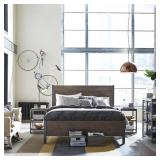 Homestyles Barnside Metro Driftwood Queen Panel Bed - Missing Slats - Includes Head/Footboards and Rails.