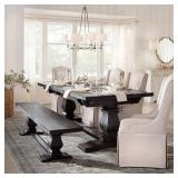 Home Decorators Collections Aldridge Washed Dining Table with Bench, NB023WB
