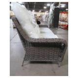 Hampton Bay Cambridge Gray Wicker Outdoor Patio Sofa with Bare Cushions, H055-01203900 - Slip Covers Not Included