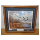 North Shore - Buffalo Lake - Mallards by David A. Maass Signed & Numbered Limited Edition Framed Print