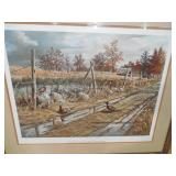 "Ken Zylla ""The Old Gutvold Place"" Pheasants  Framed Print Artist Proof /77"