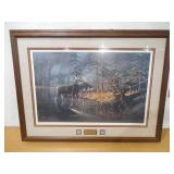 """The Edge of Winter (Moose)"" by Ken Zylla Framed print /800"