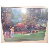 Marv Brehm 11th Hole At Augusta Professionally Matted,Framed,