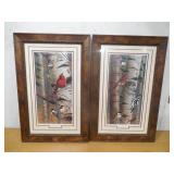 "Set of Framed Prints ""UNANNOUNCED""  Visitors 1 & 2 by Cynthie Fisher"