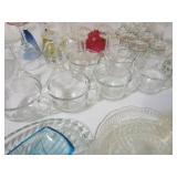 Glass Trays, Bowls, Wine Glasses & Misc.