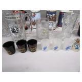 Beer Steins, Shot Glasses, Coasters