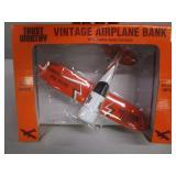 (New in Box) 1929 Travel Air Vintage Airplane Die-Cast Bank