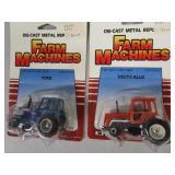 1/64th Scale Collectible Tractors, Grain Cart, Bulldozer