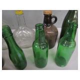 Vintage Whiskey & Beer Bottles