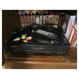 Record/Cassette Player, VHS & Tapes, Large Assortment of Vinyl
