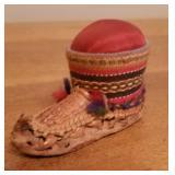 Miniature German Sewing Machines & Lapland Boot Pin Cushion