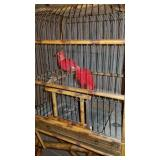 Antique Bamboo Birdcage and Stand