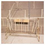 Iron Rod Doll Cradle and Bed