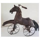 Carved Toy Horse Tricycle