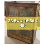 Antique Tin Pie Safe Cabinet