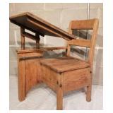 Antique Oak Student Desk