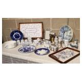 Collection of German, Dutch and Belgian Blue and White Porcelain