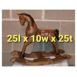 Carved Wooden Rocking Horse