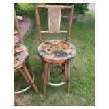 Set of 4 Vintage Bar Chairs