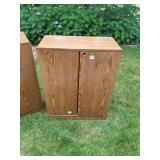 Pair of Wood Filing Cabinets