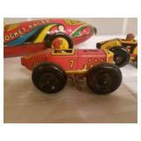Vintage Collection of Wind-Up Metal Race Cars