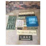 Big Variety Lot of Decorative Lake House Themed Pictures & Displays