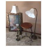 "56"" Adjustable Lamps & Home Decor Lot"