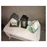 Lot of  3 Handcrafted Decorative Birdhouses