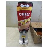 Gehl's 2.0 Sauce Dispenser with 3 Unopened Bags of Chili Sauce (Good Lot Code).