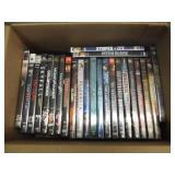 Box of DVD's – 24 DVD's of various genre.