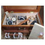 Jewelry Box With Watches, Vintage L...