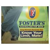2001 Fosters Cardboard Cut Out *See...