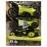 Pallet with assorted ryobi Outdoor Tools -