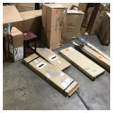 Pallet  with assorted furniture/home decor and ceiling light review pictures