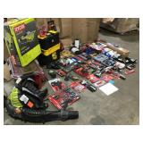 Pallet with assorted tools- Husky Sets, storage boxes, power tool accesories and more Customer Returns