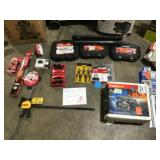 Pallet with Assorted mechanic tools and more great selection please review pictures customer returns