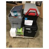Assorted Mailboxes, storage Bins and safe customer returns review pictures