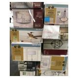 mixed pallet assorted indoor lights/ceiling fan lights! customer returns see pics