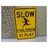 Reflective Metal Slow Children At P...