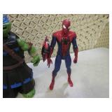 Spiderman and Ninja Turtle Toy Figu...