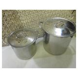 """2 Cooking Pots with Lids 11"""" x 10"""" ..."""