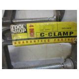 """Lot of 4 Tool Shop 4"""" C-Clamps  EC1..."""